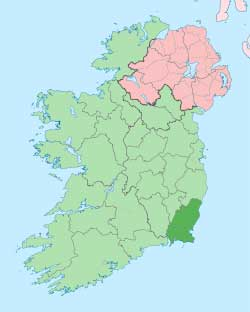 Map of County Wexford