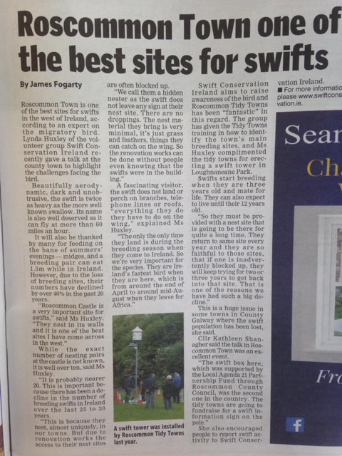 Roscommon Herald Article