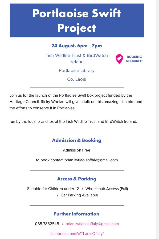 Portlaoise Swift Project